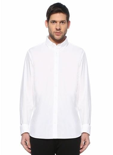Beymen Collection Beymen Collection Custom Fit  Düğmeli Yaka Gömlek 101583254 Beyaz